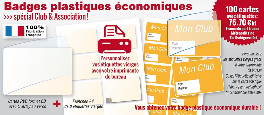 cartes plastiques � overlay