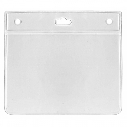 Porte badge souple transparent  pour 1 carte format 105x75 mm - horizontal